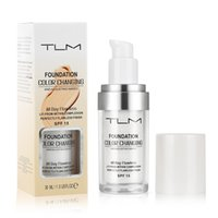 TLM 30 ML Renk Değiştirme Vakfı Profesyonel Renk Değiştirme Yüz Makyaj Su Geçirmez Sıvı Vakfı Mat Yüksek Kapsama Kapatıcı Krem