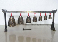 Meditationsgong mit 7 Ornate Bell mit chinesischem Drachendesign
