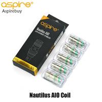 Aspire Nautilus AIO Bobin Değişimi 1.8ohm Direnç Nautilus AIO BVC 5pcs bobin / Paketi Fit Aspire Aio Pod Seti% 100 Orijinal