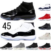 11 mit freien Socken AirJordanRetro 2020 11 Mens 11s Basketball-Schuhe Concord 45 Jam Gym SMARAGD NAVY GUM Kirsche Sport-Turnschuhe 36-47