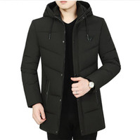 Mens Winter Designer Down Hooded Long Sleeve Business Style ...