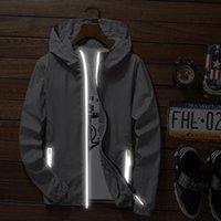 Erkekler Yaz Kapşonlu Ceket İnce WINDBREAKER Cilt Coat Su geçirmez Sahil Casual Ceketler 2020 gençlik erkek giyim Coats güneşliğe
