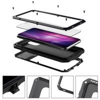 Métal 360 Full Body Armure antichocs Téléphone cas pour l'iPhone 11 Pro Max Housse étanche pour iPhone XR XS 7 8 Plus gratuit shippping