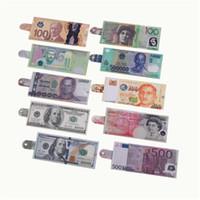 kreative geld druck muster brieftasche schnalle brieftasche aufbewahrungspaket Dollar sterling euro rubel form schnalle münze geldbörse