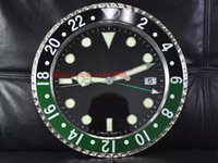 8 스타일 높은 품질 GMT 116710 116719 벽 시계 34CM x 5CM 3KG 스테인레스 스틸 쿼츠 전자 블루 발광 홈 장식 시계