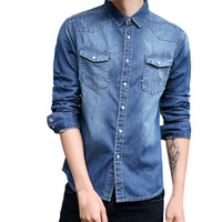 good quality Spring Shirt Of Men Long Sleeve Shirts Plus Siz...