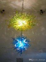 Sorgente luminosa UL certificato personalizzato soffiato Designer Murano Glass Chandelier Luce del CE LED AC 110V 240V Energy Saving Modern Chandelier