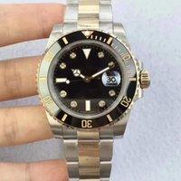 Erkekler Lüks İzle Otomatik Eta 2836 Diamond İçin Saatler Gerçek 18k altın Hiç Fade Mens Dive Sport 116.613 N Fabrika saatı Sarılmış Dial