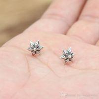 Personalizzato 925 Sterling Silver Jewelry Antico argento American Designer Made Designer 6 Points Star Stud Orecchini regalo per le donne