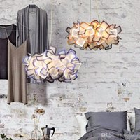 북유럽 창조적 인 크리스탈 샹들리에 펜던트 조명 계약 램프 현대 로맨틱 아트 레스토랑 droplight 세 컬러 조절 led 조명