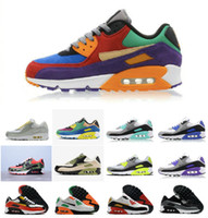 VIOTECH SER VERDADE 2020 Mens Mulheres sapatilhas clássicas 90 correndo QS Shoes Infrared Sul praia Sports instrutor Air Cushion superfície respirável sapatos
