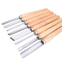 8 قطع الخشب نحت سكين مخرطة إزميل مجموعة أدوات تحول النجارة gouge الانحراف فراق الرمح لصنع الحقائب