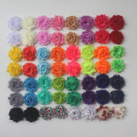 "30y 1.5 ""Pequeña flor de gasa de gasa para bebés, flores de gasa por malla para niñas accesorios de ropa, flores de la diadema"