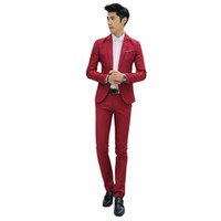 Nuovo Design Coat and Pant Suit Uomo Smoking da uomo in tinta unita per uomo Slim Fit Mens Abiti moda coreana