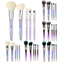 5Pcs Diamond Makeup Brush Set with Clear Crystal Handle Powd...