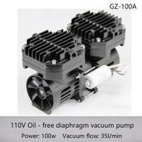 GZ-100A AC 110V / 220V 100W الأوتوكلاف الأغراض الخاصة AC فراغ مضخة الحجاب الحاجز مع تدفق 70L / دقيقة