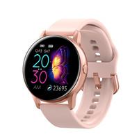 여성 IP68 방수 스마트 시계 블루투스 Smartwatch를 들어 애플 아이폰 샤오 미 LG 심장 박동 모니터 피트니스 추적기