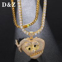 D&Z Hip Hop Micro Paved + CZ Chief Keef Heart Necklaces For ...