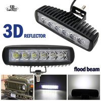 Led Work Light Bar 1 Pair 18W Led Chip Flood Beam 12V 24V 6&...