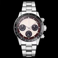 Hot sale Chronograph Vintage Perpetual Paul Newman Japanischer Quarz Edelstahl Männer Herrenuhren Uhr Armbanduhren