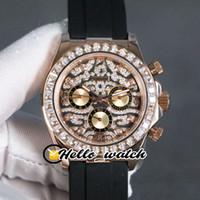 Новый 116588 TBR шаблон Алмазный набор Автоматические Мужские часы 116595 Алмазный диск розового золота Нет хронограф Мужская уборная часы Hello_Watch 3Color