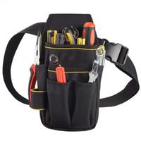 Профессиональный электрик сумка для инструментов пояс Оксфорд ткань водонепроницаемый инструмент держатель ремня комплект карманов Удобная сумка с Талией