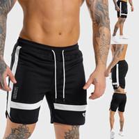 Pantaloncini da allenamento da uomo Pantaloncini da allenamento da uomo Palestra da palestra Fitness Pantalone da ginnastica Pantaloncini da basket da jumper Nero