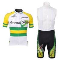 2021 Orca EdgeGreen Proチームメンズ夏クイックドライ通気性半袖サイクリングジャージー自転車MTB服セット022302