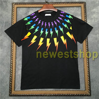 2020 hot High Quality mens color geometry printing t shirts Fashion rainbow color print T shirt Womens Cool Designer T Shirts unsex tee