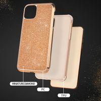 cas 2en1 hybride couverture mince de protection miniature diamant pour iPhone 11 pro max xr xs paillettes max bling pour l'iphone 8 7 plus