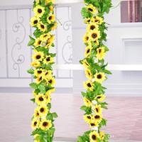 Искусственный цветок подсолнуха моделирование подсолнечника комнатные шелковые цветы поддельные лотос тростник лоза свадьба праздник украсить гирлянды мандалы 4 5czb1
