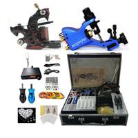Professionele complete tattoo kit 2 Top machinegeweer 50 naalden 2 Grepen voeding met LED-lamp G1904032