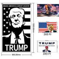 Donald John Trump Amercia Flags 90*150cm Polyester Head Meta...