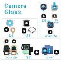 Оригинальный задняя камера стеклянное кольцо крышка объектива для Samsung Galaxy S4 S5 S6 S7 S8 Гурт Plus S6Edge S7 С наклейками частей телефона ремонт