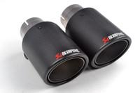 2 partes (um par) Multi Inlet 63MM Dica Akrapovic carbono tubo de escape finais tubos de escape AK carbono Dicas silencioso acessórios do carro
