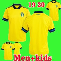 19 20 Sweden European Cup soccer jersey 2019 2020 home yello...
