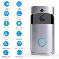 Wireless WIFI Video Türsprechanlage Türsprechanlage EKEN Video Klingelanlage Nachtsicht Außenkamera mit Mikrofon Lautsprecher HD 720P Silber