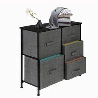 Mobili Beautiful Desktop Storage Storage Desk Desk Dresser Cassetter Organizer con 5 cassetti Tessuto Dresser Tower Tower per il corridoio della camera da letto