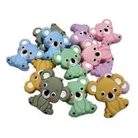 Silicone Beads Koala Teether Bambino di dentizione Giocattoli BPA Food Grade perle di cura regalo fai da te in silicone Baby Gift Collana