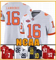 NCAA Clemson Tigers 16 Trevor Lawrence 9 Travis Etienne Jr. Tom Brady Jersey 13 Tua Tagovailoa Jerseys Saquon Barkley