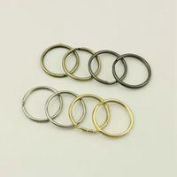 25mm 금속 O 열쇠 고리 라운드 라인 키 체인 펜던트 O 링 꽉 훅 버클 DIY 가방 하드웨어 제품 액세서리
