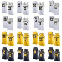 Michigan Wolverines Jerseys Zavier Simpson Jersey Ozuna-Harrison Jon Teske Franz Wagner Luke Wilson Camisetas de baloncesto para hombre cosidas a medida