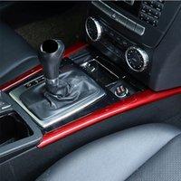 Консоль передач автомобилей Стайлинг центр Сдвиг Обе полоски боковой обшивке Для Mercedes Benz C Class W204 2008-13 Аксессуары для интерьера