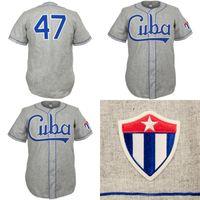 Cuba 1947 Strada Jersey Uomo Personalizzato Uomo Donna Giovani Baseball Jerseys Qualsiasi nome e numero doppio cucito