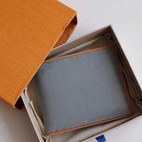파리 스타일 디자이너 망 지갑 유명한 카드 홀더 남성 지갑 특별한 상자에 여러 개의 짧은 작은 지갑 캔버스 지퍼 격자 무늬