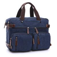 856c5c4309e0 Men s Canvas vintage Casual Briefcase man Business Shoulder Messenger Bag  men Laptop Handbag male Messenger Crossbody Bags NEW