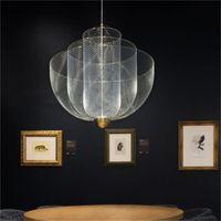 북유럽 거실 펜던트 램프 성격 식당 침실 램프 현대 미니멀 순 케이지 샹들리에 조명 패션 식사 램프