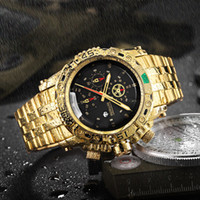 uartz Watches TEMEITE Creative Golden Men Quartz Wristwatche...