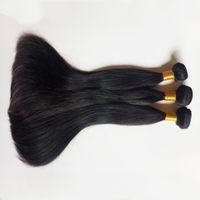 virgem brasileira Humano Weave Cabelo 3pc muito Remy cabelo indiano barato trama cabelo liso natural, Extensão Hot grau venda 7A peruana Humano