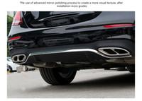 100% hochwertige Edelstahl Exhause Luftfilter 2 BIS 4 Abdeckung Autozubehör für Mercedes Benz E-Klasse E-KLASSE W213 E200 E300 E320 2016